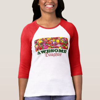 AWESOME Daughter Tee Shirts Tulip Flowers