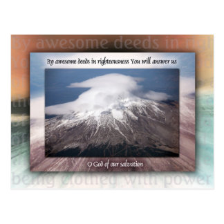 Awesome Deeds of Righteousness Postcard
