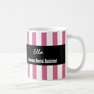 Awesome Dental Assistant PINK WHITE Stripes V04 Coffee Mug
