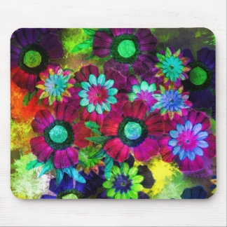 Awesome Digital Flowers Mouse Pad
