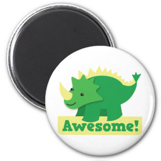 awesome dino 2 inch round magnet