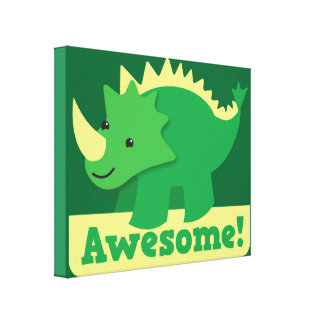 Awesome Dinosaur Canvas Print