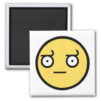 Awesome Disapproval Face 2 Inch Square Magnet