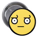 Awesome Disapproval Face 3 Inch Round Button