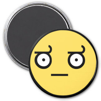 Awesome Disapproval Face 3 Inch Round Magnet