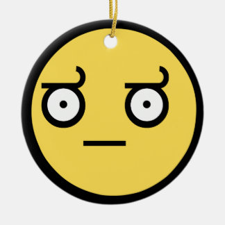 Awesome Disapproval Face Ceramic Ornament