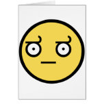 Awesome Disapproval Face Greeting Card
