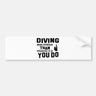 Awesome Diving designs Bumper Sticker