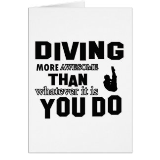 Awesome Diving designs Greeting Cards