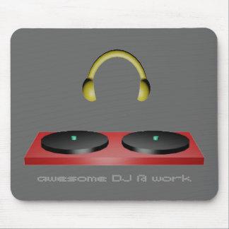 awesome DJ @ work mousepad