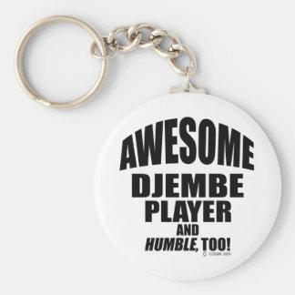 Awesome Djembe Player Keychain