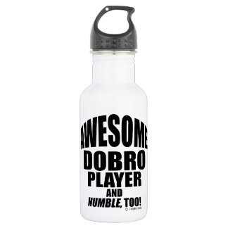 Awesome Dobro Player Stainless Steel Water Bottle