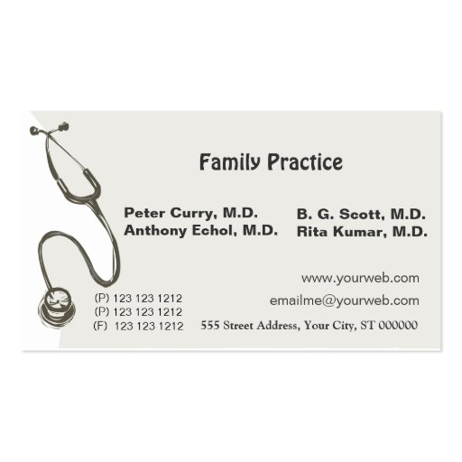 Awesome doctor medical double sided standard business for Medical doctor business card