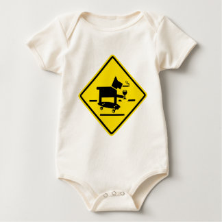 Awesome Dog Crossing Baby Bodysuit