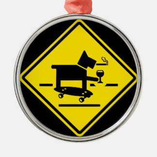Awesome Dog Crossing Metal Ornament