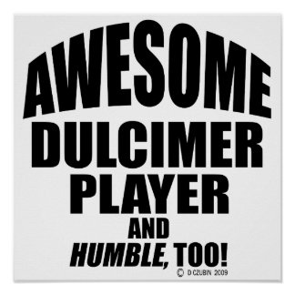 Awesome Dulcimer Player Poster