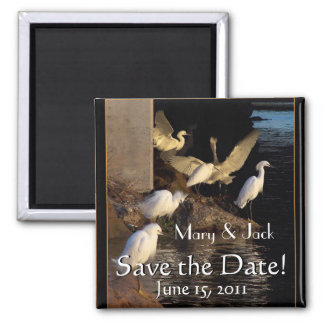 Awesome Egrets Save the Date Magnet