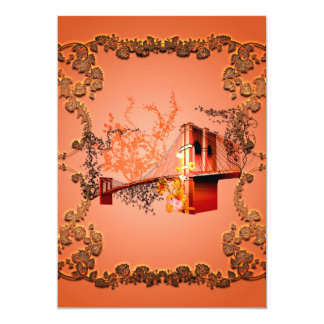Awesome eiffeltower with roses card