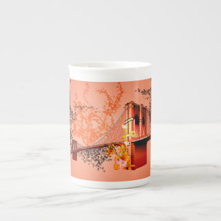 Awesome eiffeltower with roses tea cup