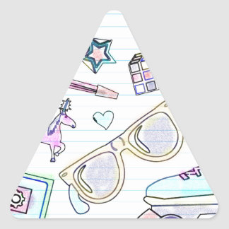 Awesome Eighties Coloring Book Pattern Triangle Sticker