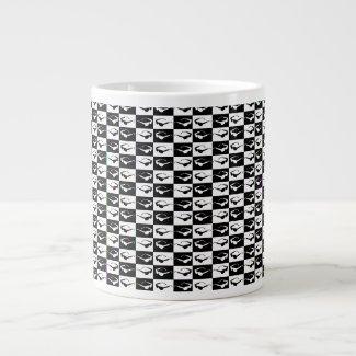 Awesome Eighties Mod Sunglasses Checkers Giant Coffee Mug