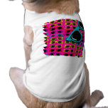 Awesome Eighties Sunglasses on Pink Doggie T Shirt