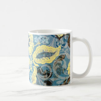 Awesome Elaborate Blue White Floral Art Design Coffee Mug