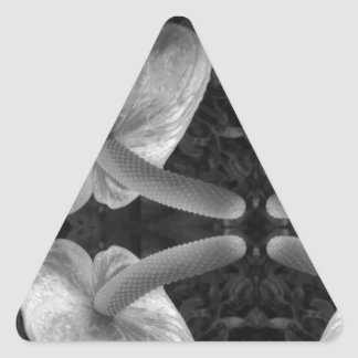 AWESOME Exotic Flower Triangle Sticker