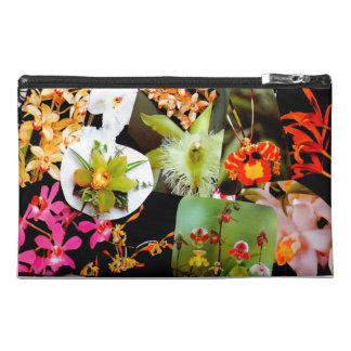 Awesome Exotic Tropical Orchids Collage Photo Travel Accessory Bags