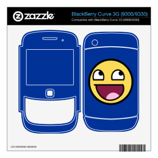 Awesome Face BlackBerry Curve Skin