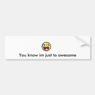 Awesome Face Bumber Sticker Car Bumper Sticker