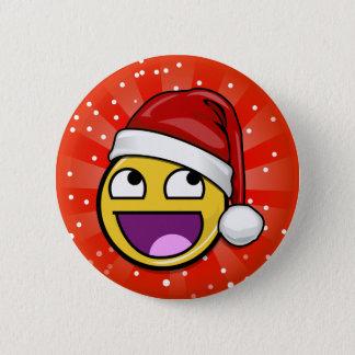 Awesome Face Christmas Santa Button