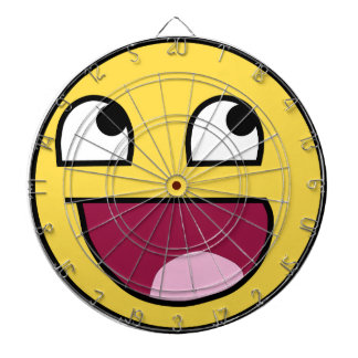 AWESOME FACE DARTBOARD WITH DARTS