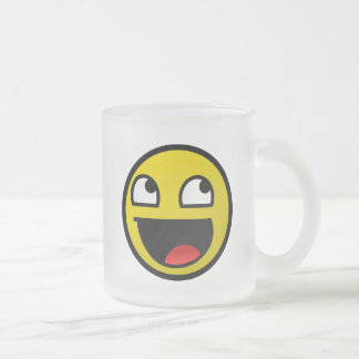 Awesome Face! Frosted Glass Coffee Mug