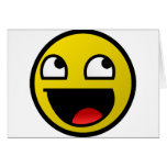 Awesome Face! Greeting Cards