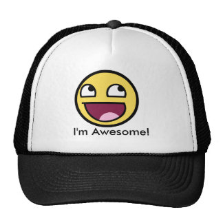 Awesome Face - Im Awesome Mesh Hats