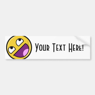 Awesome Face Internet Meme Bumper Sticker