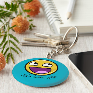 Awesome Face Internet Meme Basic Round Button Keychain