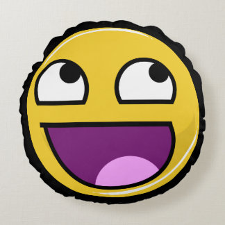 Awesome Face Internet Meme Round Pillow