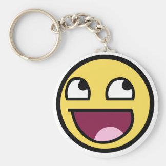 Awesome Face Keyring Basic Round Button Keychain