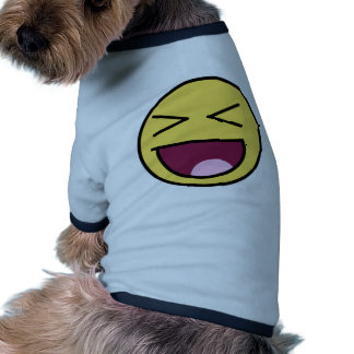 awesome face laugh pet tee