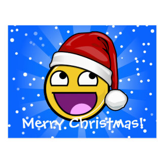Awesome Face Meme Custom Text Holiday Postcards