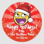 Awesome Face Meme Santa Hat Business Stickers