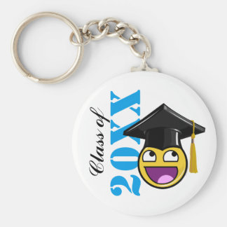 Awesome Face Meme With Graduation Hat Basic Round Button Keychain