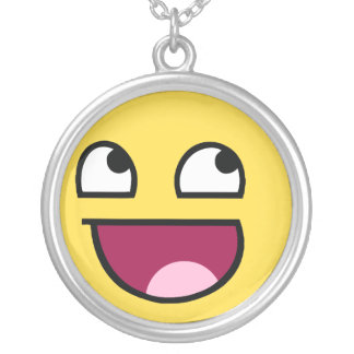 Awesome Face Round Pendant Necklace