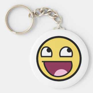Awesome face products basic round button keychain