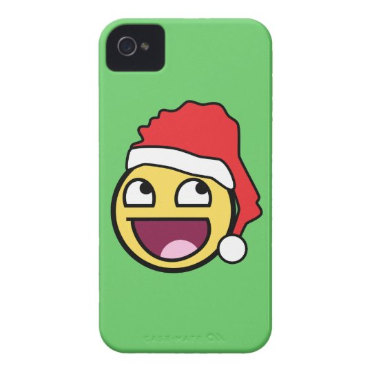 Awesome Face Santa Barely There iPhone 4 Case