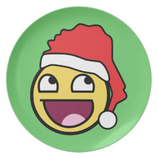 Awesome Face Santa Plate