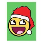 Awesome Face Santa Postcard