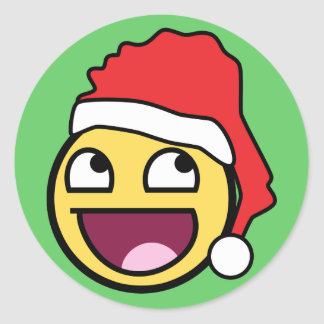 Awesome face stickers zazzle awesome face santa sticker voltagebd Image collections